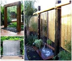Diy Water Wall Ideas Stunning Outdoor Backyard Waterfall X Feature 3