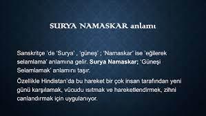 Namaskar Nedir