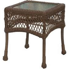 light brown wicker end table home patio french bedside tables american heritage furniture comfortable armchairs for
