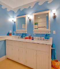 bathroom designs for kids. Underwater World Theme On The Walls With Unique Cabinets Turns This Bathroom Into A Of Designs For Kids B