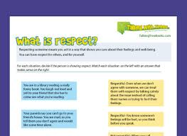 what is respect respect definition for kids respect teaching resources