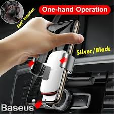 <b>Baseus Metal Gravity Car</b> Phone Holder CD Slot/Air Vent Mount for ...