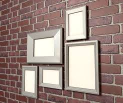 picture frames brick hanging wall art