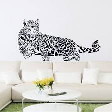 black pvc wall stickers cheetah leopard 3d removable wall decals home decor stickers free shipping on removable wall decor stickers with black pvc wall stickers cheetah leopard 3d removable wall decals