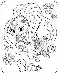 Shimmer And Shine Coloring Games Pages The Beautiful Cast Of P