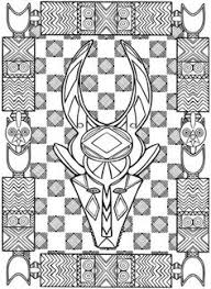 Small Picture coloring page coloring adult african mask 1 Coloring picture of