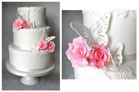 Butterfly Rose Wedding Cake