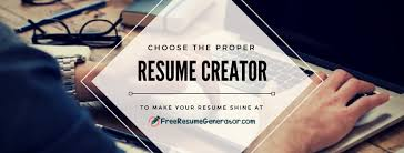 Resume Builder 2018 Interesting Effective Free Resume Generator Free Resume Generator