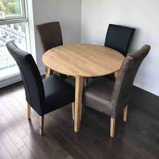 genova solid oak round extendable dining table by design furniture outlet58 outlet