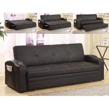 pull out sofa bed. Crown Mark Furniture Easton Black Upholstered Adjustable Pull-Out Sofa Bed Sleeper Pull Out