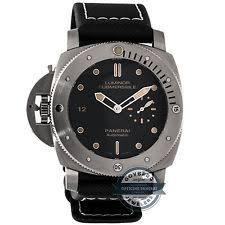 panerai luminor titanium case wristwatches panerai luminor 1950 destro submersible pam 569 auto 47mm titanium mens watch