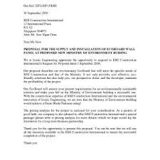 Construction Proposal Letter How To Write A Letter For Construction Project Inspirationa Sample