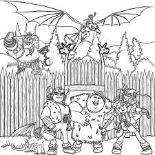 Small Picture How To Train Your Dragon Coloring Pages For Kids To Print Vikings