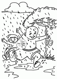 Small Picture Summer Rain Coloring Page For Kids Seasons Pages In Coloring Page