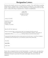 Sample Resignation Letter 2 Weeks Notice Gorgeous Employee Resignation Professional 48 Week Notice Two Example Letter