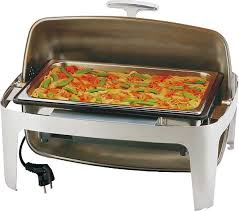 m t electric chafing dish with rolltop