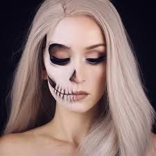 fading half skull y skeleton makeup ideas you should wear this