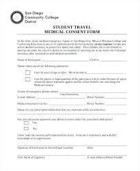 Student Consent Form Template Sample Medical Free Documents In Doc ...