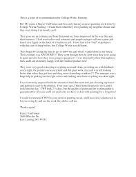 college letter of recommendation template letter format