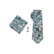 Shop Men's <b>Barry Wang Blue Brown</b> & White Paisley 100% Cotton ...