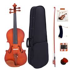 details about 4 4 full size high grade maple matt acoustic violin fiddle set gifts