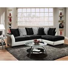 chelsea home furniture lambda sectional jefferson black avanti white