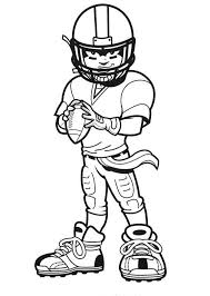 Small Picture Coloring Pages Of Football Players For Kids Football poster