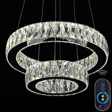 dimmable modern chandelier led crystal pendant lamp