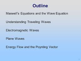 outline maxwell s equations and the wave equation