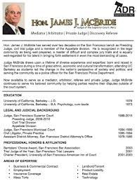 Judge Mcbride's Resume