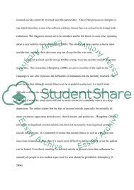 Physician Assisted Suicide Essay Example Topics And Well Written