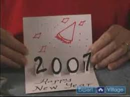 How to make new year greeting cards at home