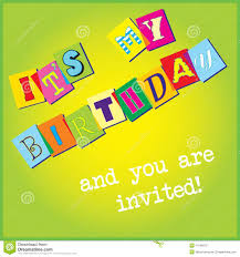 birthday invitation template stock photography image  birthday invitation template