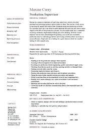Sample Resume For Fabrication Supervisor