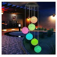 Amazon Com Wind Chimes Outdoor Solar Wind Chimes Color