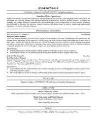 Hospitality Resume Writing Example Http Www Resumecareer Info