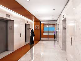 office lobby designs. Lobby Signs Featuring Elevator Room And Glass Push Door Plus White Scheme With Brown Office Receptionis Desk Waiting Area Ideas Designs