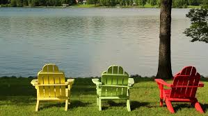 adirondack chairs lake. Brilliant Chairs Adirondack Chairs On Lake RoyaltyFree Stock Video In 4K And HD   Shutterstock On Chairs Lake H