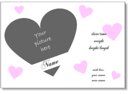 Birth Announcement Templates To Print Online With Your Photo