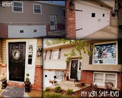 My Ugly Splitlevel Tan With Black Accents DIY Shutters Garage - Split level house interior