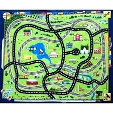 ikea train track rug kids car road mat child kid rugs map toddler play large foam