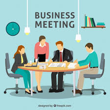 the office the meeting. Business Meeting Scene In The Office Free Vector