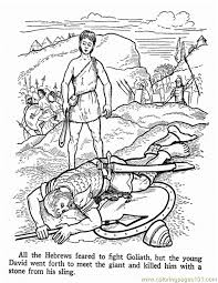 David And Goliath 2 Coloring Page Free Religions Coloring Pages
