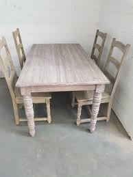 New Assembled Limed Oak Dining Table 4 Chairs Rrp 999 In