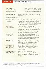 What Is A Chronological Resume cv in reverse chronological format example of chronological 63