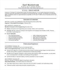 Resume Of A Civil Engineering Graduate Civil Engineering Student