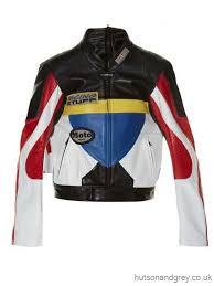 colour block leather biker jacket vetements women s jackets comprehensive dicount
