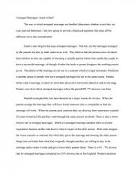 arranged marriages good or bad essay zoom zoom zoom