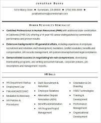 HR Resume Format Template 40 Free Word PDF Format Download Classy Skills For Hr Resume