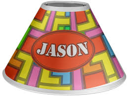 tetris print coolie lamp shade personalized